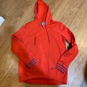 Adidas high low sweater like new size small red
